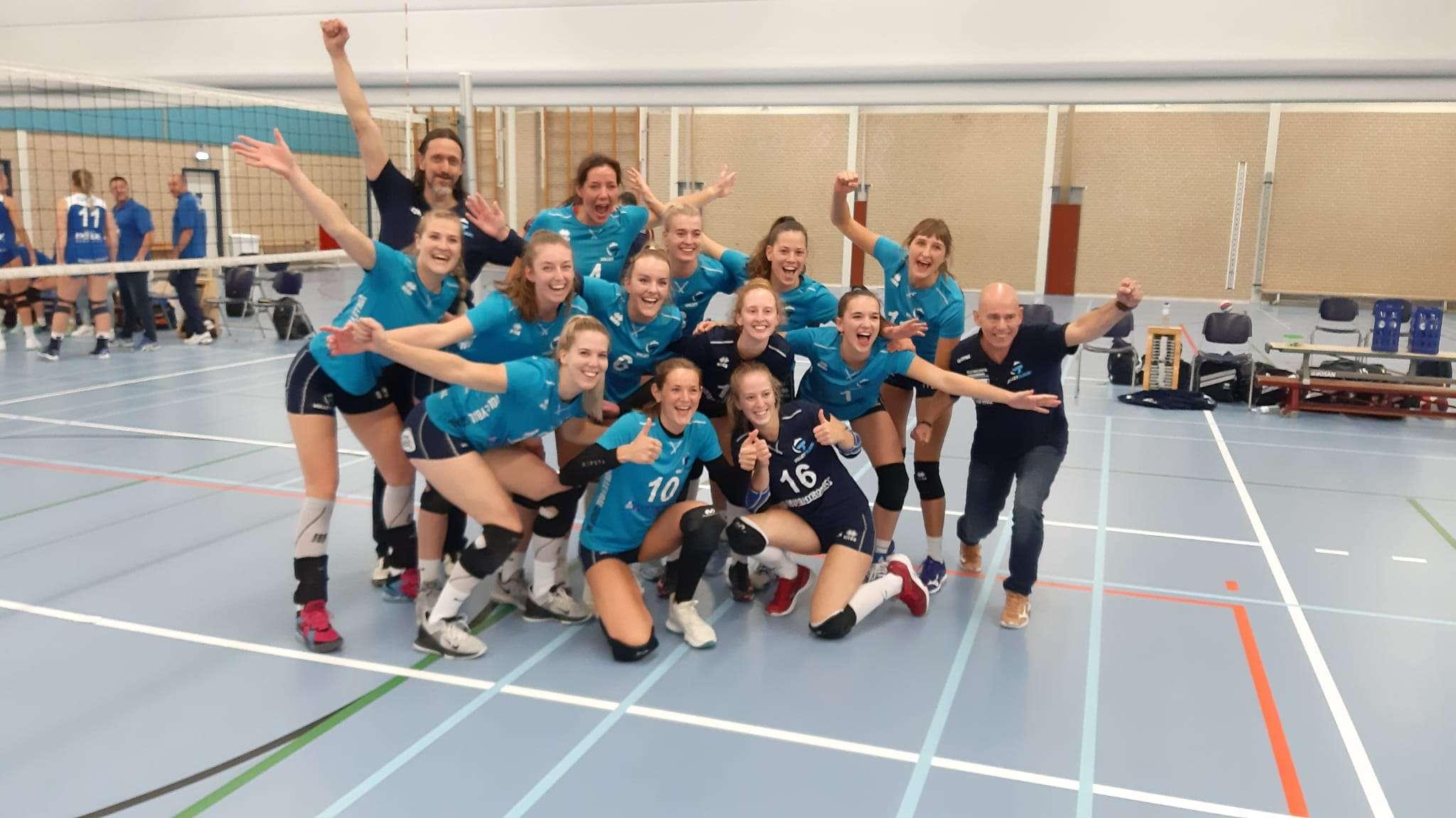 Volley Tilburg dames 1 breekt de ban