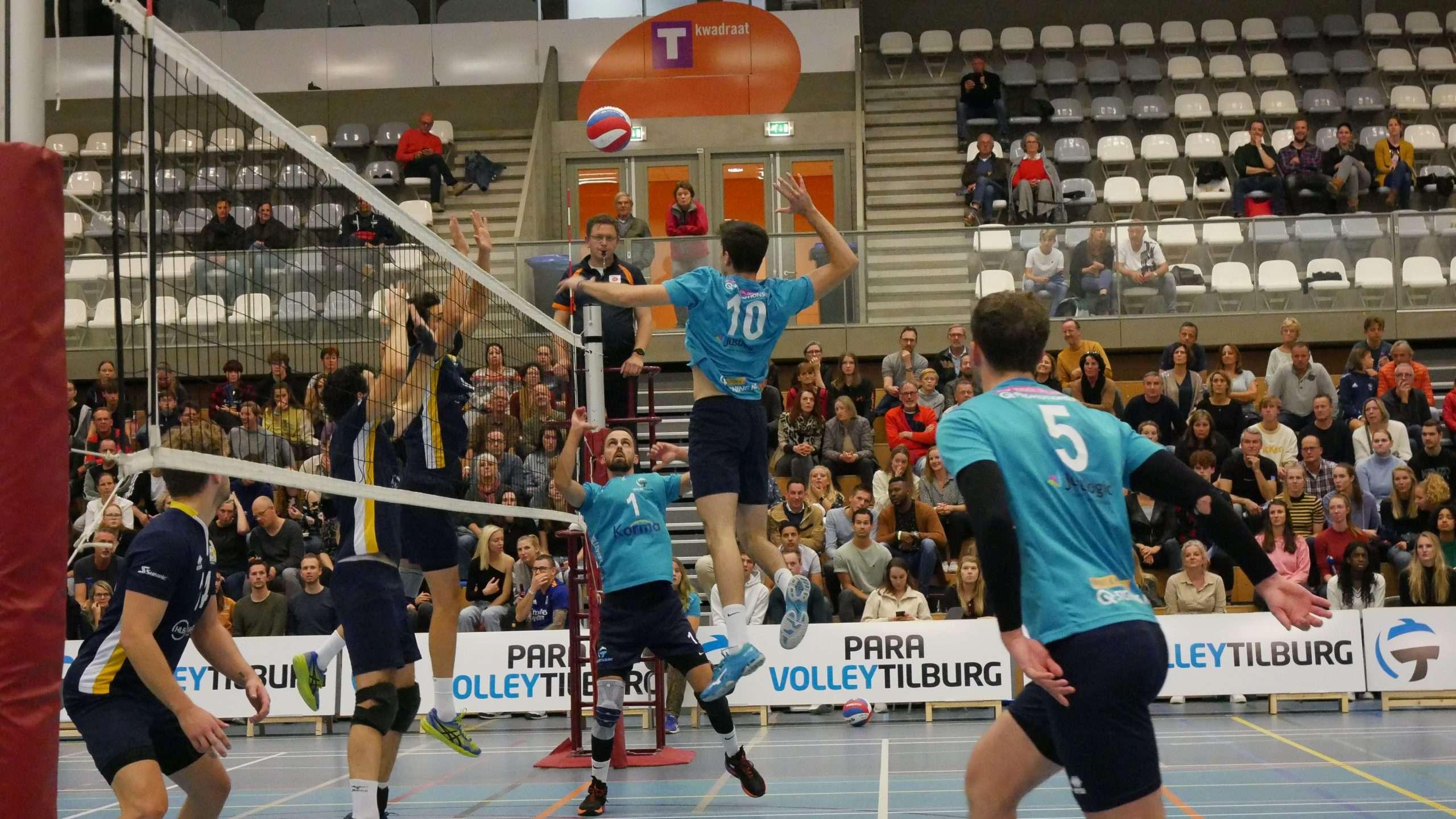 Volley Tilburg heren 1 duidelijk de sterkste in Brabantse derby